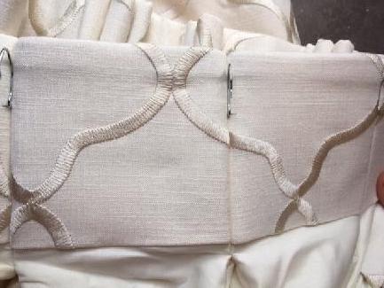 IDEx - Cream Linen Embroidered Curtains (pair)