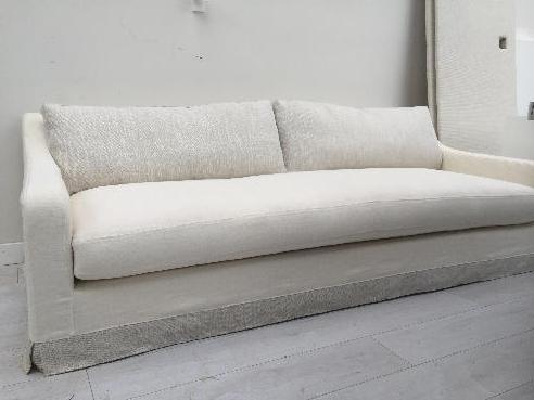 White Linen, Loose Cover Sofa
